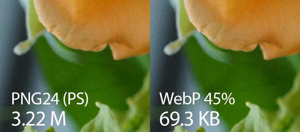 PNG vs WEBP